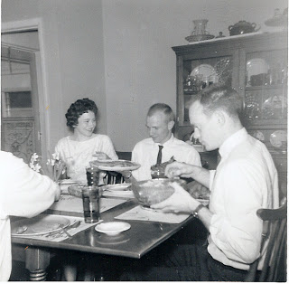 Sunday dinner with the Phillips family.